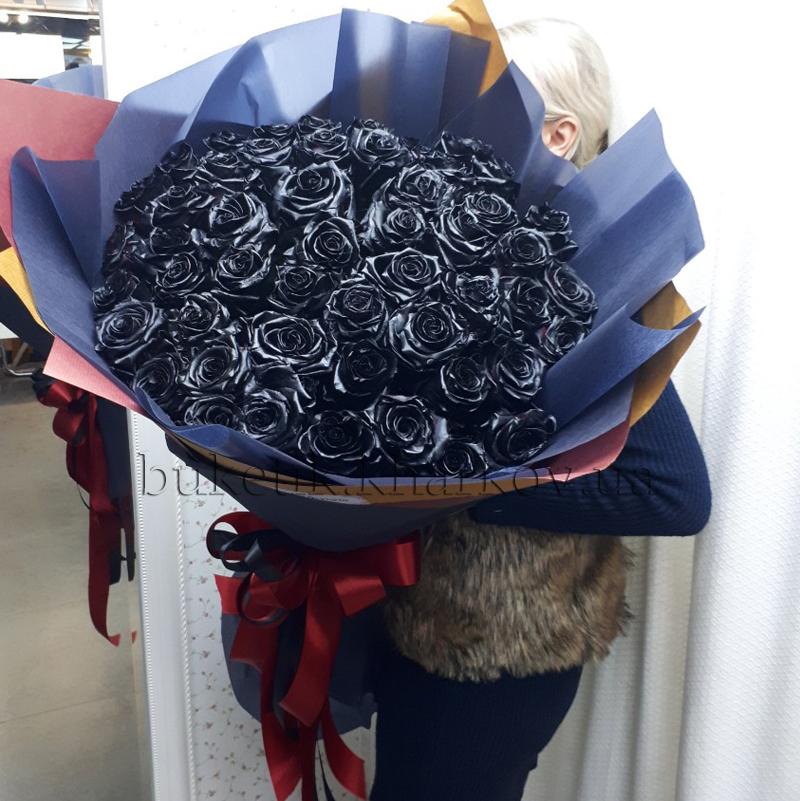 Купить черные розы в Харькове