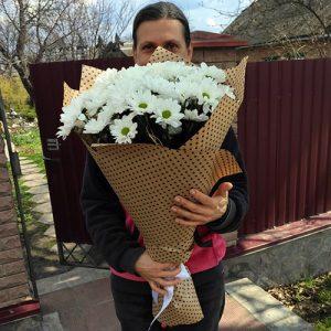 Букет ромашковых хризантем